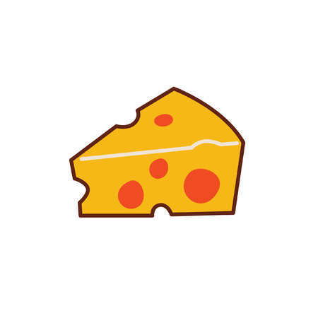 illustration of a piece of yellow cheese.
