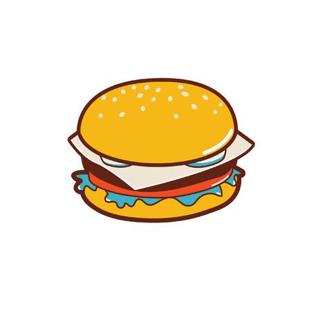 a burger ready to eat. Stok Fotoğraf - 107512948