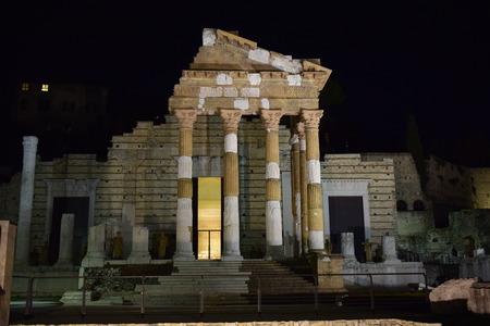 pantheon capitolium in brescia, italy Editorial