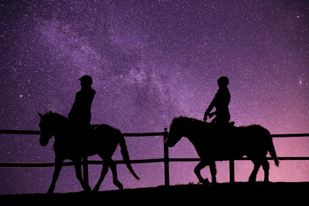 horse riding in the universe