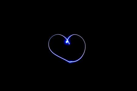 glow heart beating