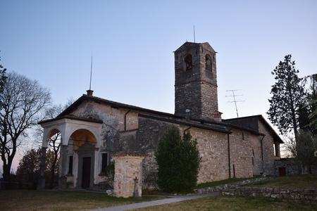 old church near brescia, in italy
