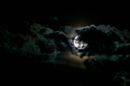 moon light between clouds