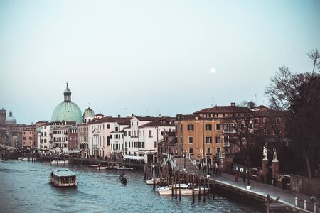 fantastic view on a town like venice