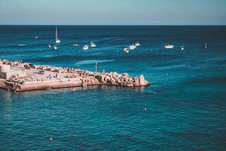 view on castro sea in puglia Stock Photo