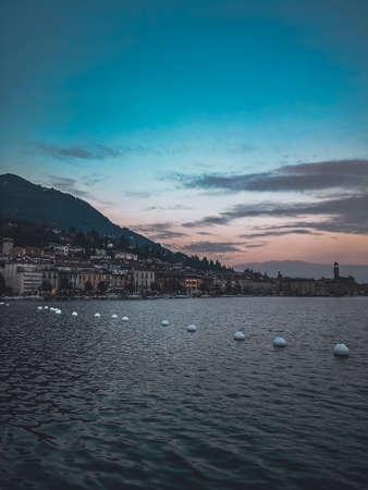 view on salò on the garda lake