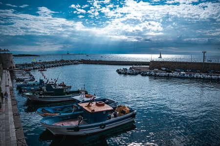 fantastic view on gallipoli port in puglia Stockfoto