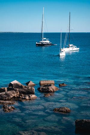 fantastic view on gallipoli sea in puglia Stockfoto