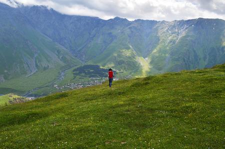 the majestic splendor of the Caucasus mountains Stock Photo