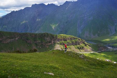splendor: the majestic splendor of the Caucasus mountains Stock Photo