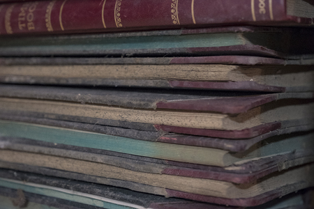 old time ledger books from a very long time ago