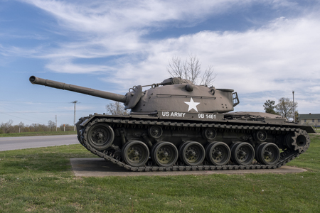 M67A1 Flame Throwing Tank produced in the mid 50s throw a flame for 60 consecutive seconds at a time. An outdoor military vehicle complex featuring vehicles used throughout military history eras.