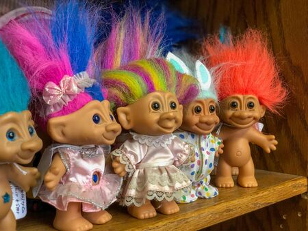 Troll Dolls for Sale on Shelf