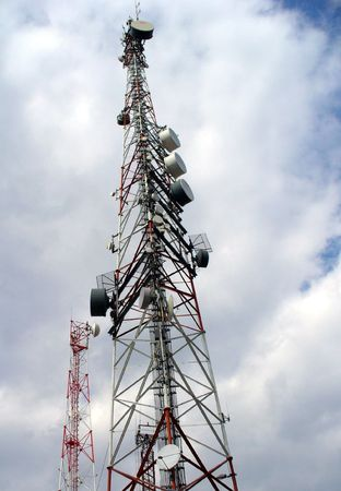 A cell phone antenna tower used for 3G and GSM Stock Photo - 6791601