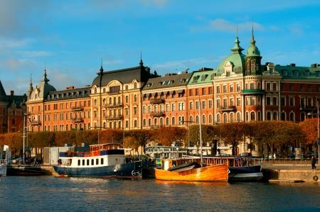 town halls: Stockholm, Sweden.Street view.