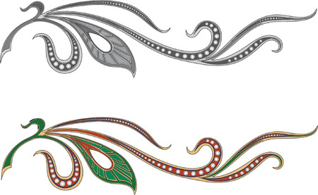 The vegetative pattern made in the form of a jeweller ornament. Illustration