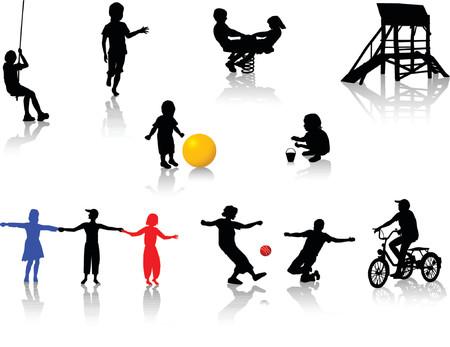 jump rope: Playing children.