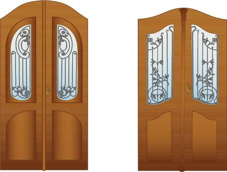doorframe: Puertas con los enrejados decorativos para el dise�o