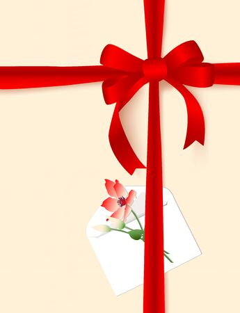 The image of a celebratory bow and packing of a gift by any holiday. Vector