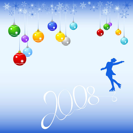 Card  to Christmas and New year Vector