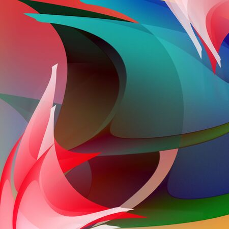 saturated: Abstraction. Colour stains and movement illusion. Stock Photo