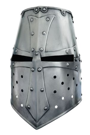 remark: Metal helmet of the knight. A remark Stock Photo