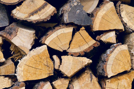 woodpile: A pile of irregularly stacked pieces of firewood
