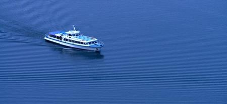 cruis: ruising yacht  The top view