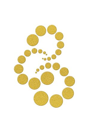 bright paintings: Dancing circles in gold glitter