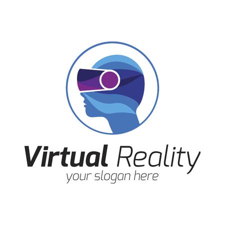 Virtual Reality Logo Vettoriali