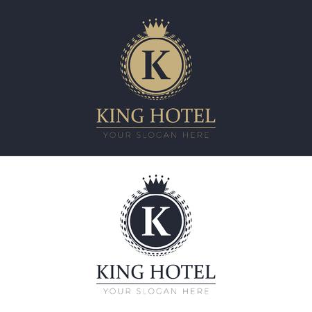 King Hotel Logo Illustration