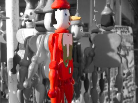 marioneta de madera: Pinocho, el t�tere de madera italiano