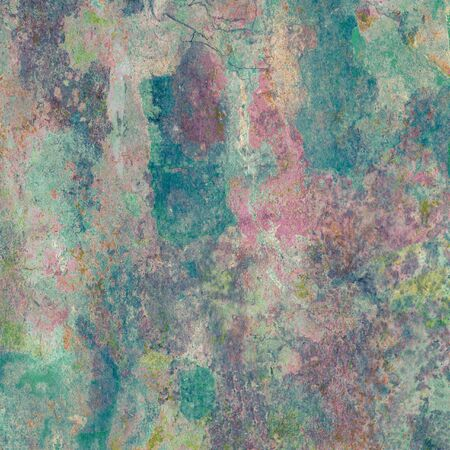 Detail of a multicolored weathered wall Stock Photo