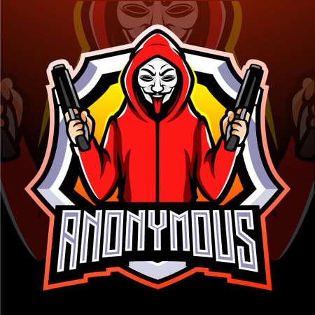 Gangster esport logo mascot design Logo