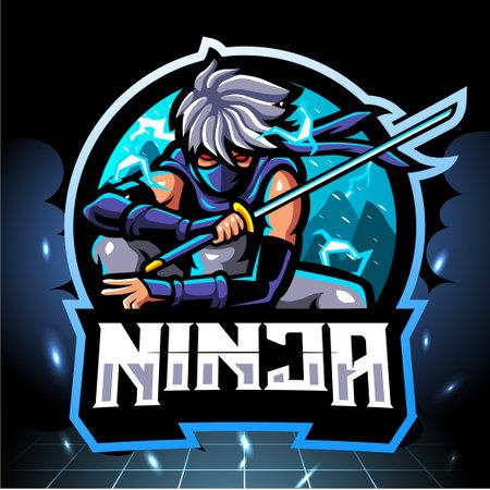 Ninja mascot, esport logo design