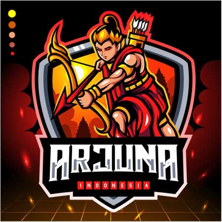 Arjuna of indonesia mascot. esport logo design