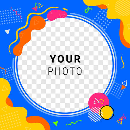 Abstract Colorful Frame Photo Design for Event or Business Vector Illustration