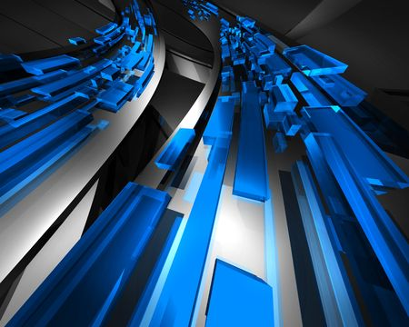abstractly: Information traffic Blue