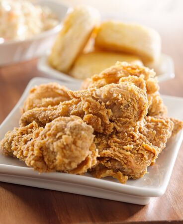 fried chicken meal Stock Photo