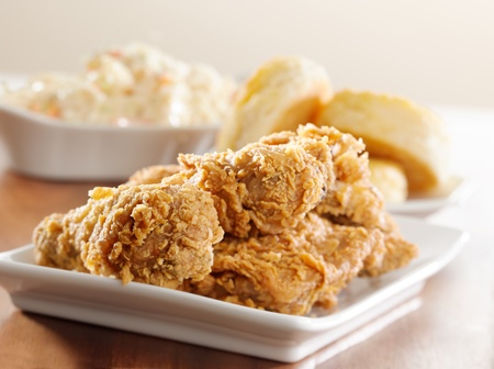 pollo frito: comida de pollo frito Foto de archivo
