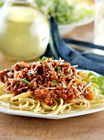 Italian spaghetti dinner Stock Photo - 9833911