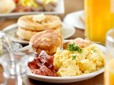 biscuits: breakfast Stock Photo