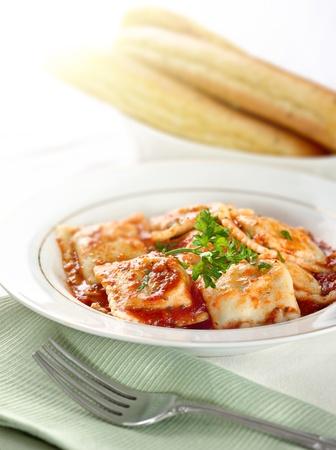 ravioli pasta meal Stock Photo - 12925211