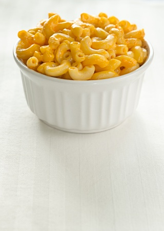 cheese plate: macaroni and cheese with copy space composition