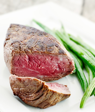 steak closeup with green beans Stock Photo - 12925127