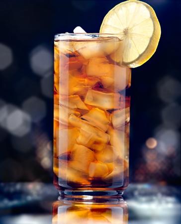 iced tea glamour shot