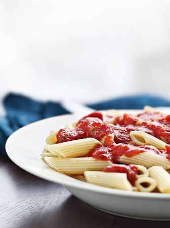 penne pasta in tomato sauce Stock Photo - 12925205