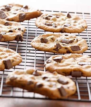 biscuit dough: cookies cooling on cooling rack