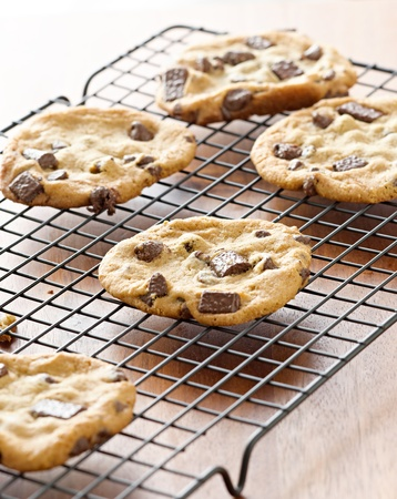 doughy: cookies cooling on cooling rack