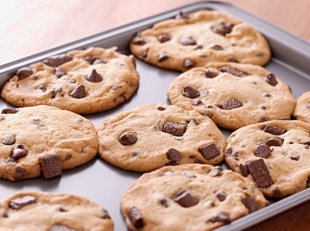 doughy: finished cookies right out of the oven